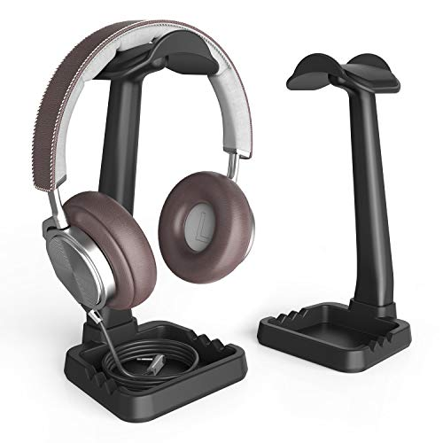 Headphone Stand Built in Cable Clip Organizer and Phone Holder, Klearlook...