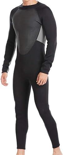 Fanuosu Combinaison d'été de plongée Combinaison néoprène Surfing en néoprène 3 mm à glissière au Dos pour Hommes Plongée Natation Surf Voile (Couleur   Noir, Taille   XL)