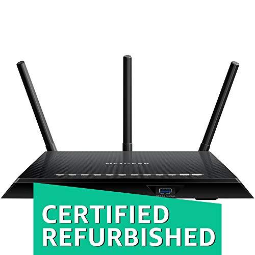 NETGEAR Smart WiFi Router with Dual Band Gigabit for Amazon Echo/Alexa - AC1750, R6400-100NAS (Renewed)