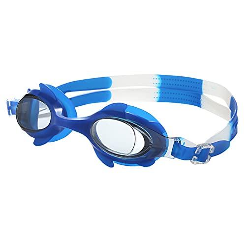 floatofly Gafas de natación impermeables transparentes HD para deportes acuáticos fuerte hermeticidad, fugas de agua y protección ocular (azul)