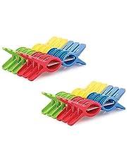 RJ Rojeno Plastic Cloth Hanging Clips Set of 24 Pieces (2 Dozen) (24 Pcs)