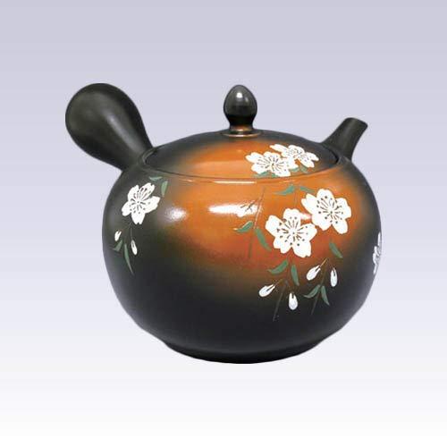 Tokyo Matcha Selection - Tokoname Kyusu teapot - SHUNJYU - Sakura - 580 cc/ml - Sawayaka Stainless Steel net [Standard Ship by Int'l e-Packet: with Tracking Number & Insurance]