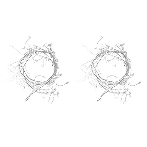 B Blesiya 2pc Clear Beaded Garlands Wire String Acrylic Crystal Beaded Garland Wedding