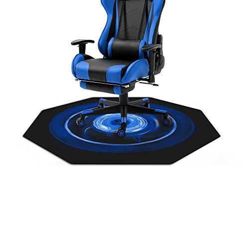 WeGuard Chair Mat for Hardwood Floor 45  X 45  Office Computer Gaming Desk Chair Mat for Hard Floor (Blue)