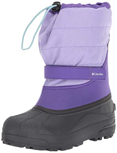 Columbia Unisex-Kid's Youth Powderbug Plus II Snow Boot, Emperor/Paisley Purple, 3 Regular US...