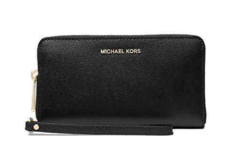 Michael Kors Portafoglio Nero in Pelle con Cinturino da Polso e Tasca per Smartphone 34F9GTVE3L 001