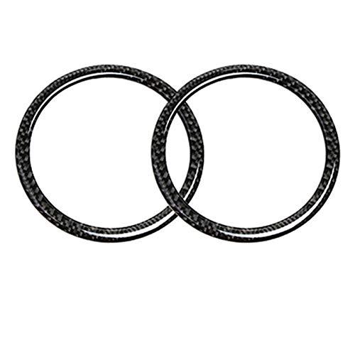 FLJKCT Pegatinas Circulares Decorativas para Altavoz de Puerta de Coche, para BMW E90 3 Series 320i 325i E84 X1 2005-2012, Accesorios de Fibra de Carbono