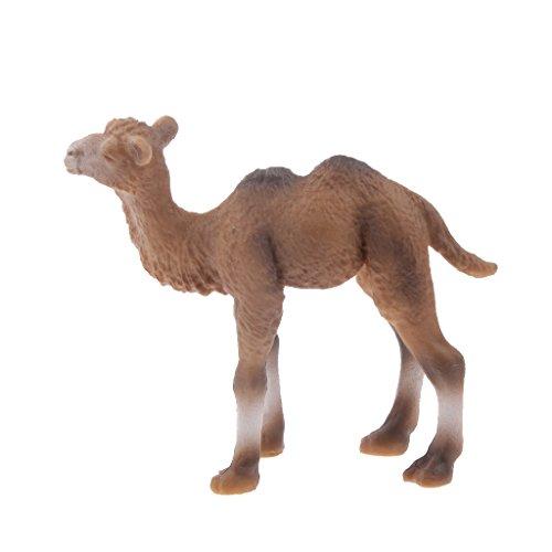 Gazechimp Tiermodell Tier Figuren -Kamel Modell - Kunststoff 7,5 x 2 x 6,5 cm