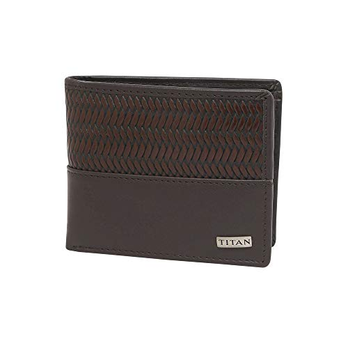 TITAN Leather Men's Wallet (Brown)