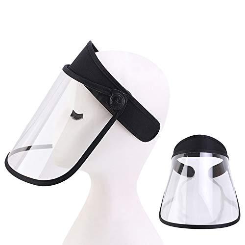 Máscara anti-saliva Película de Protección, anti-arena, anti-niebla, sol sombrero ajustable marco visera