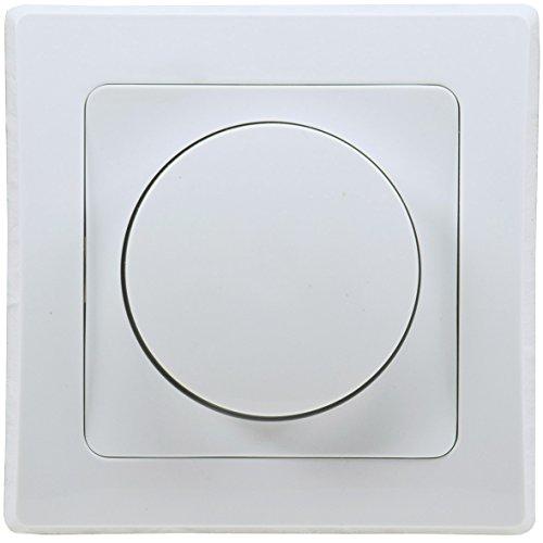 Delphi Dimmer für dimmbare 230V LED Lampen 3-60W I inkl. Rahmen Unterputz Montage Weiß