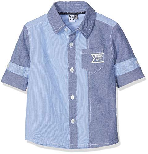 3 Pommes 3 pommes Baby-Jungen Shirt 3M12023 Bluse, Blau (Blue Grey 42), 3-6 Monate (Herstellergröße: 3/6M)