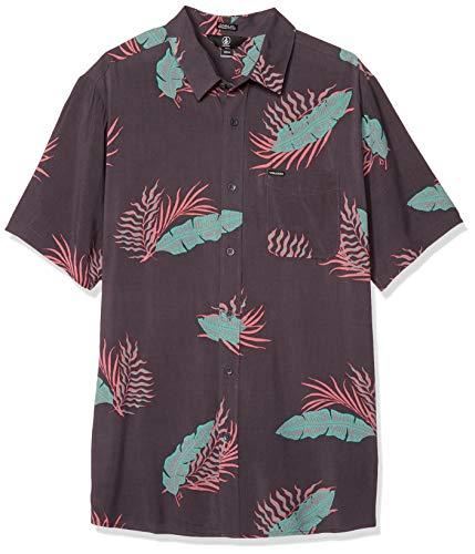 Volcom Herren Bermuda S/S T-Shirt, Dunkles Charcoal, X-Groß