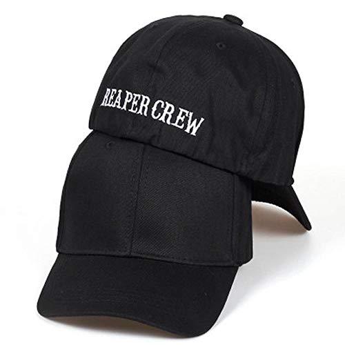 Herren Kappe Schwarze Hüte Für Fitted Baseball Cap Frauen Männer Buchstaben Bestickter Hut Hip Hop Hut Für Männer 58-60Cm Schwarz