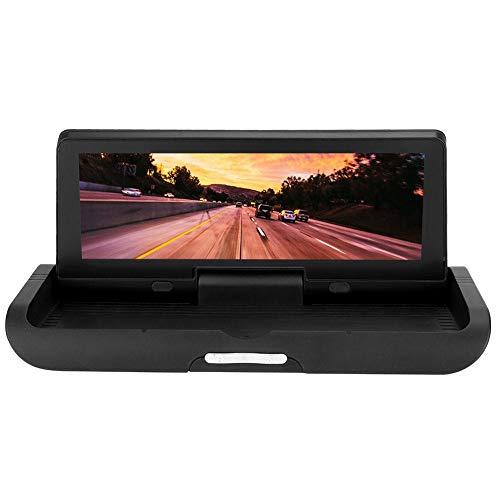 FOLOSAFENAR 785-4G Consola Central de Red Dual de 7 Pulgadas GPS DVR para automóvil Espejo para automóvil DVR HD Bluetooth WiFi E-Dog, con Llamada Bluetooth, Control de Voz, navegación de Vista Real