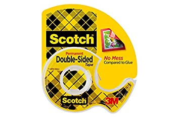 Scotch Double Sided Tape Permanent 3/4 in x 300 in 1 Dispenser/Pack  237