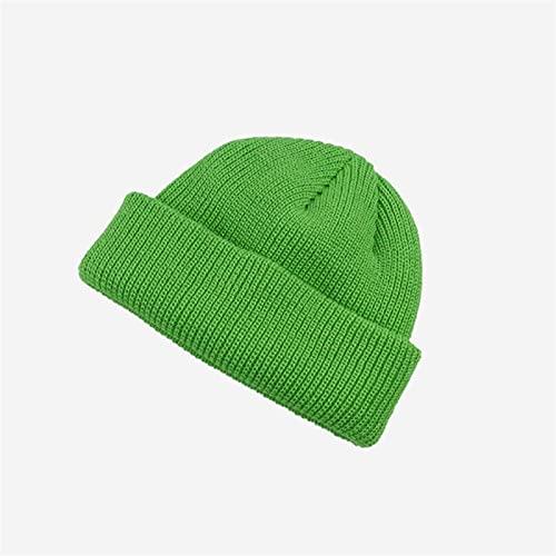 H/A GUOHUU Sombrero de otoño e Invierno Sombreros de Punto Marea Coreana Sombreros de Lana otoño Coreano GUOHUU (Color : Green, tamaño : Talla única)
