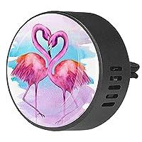 エッセンシャル オイル ベント クリップ用カー ディフューザー、漫画フラミンゴ水彩画 ,2 パック 40mm アロマセラピー芳香剤