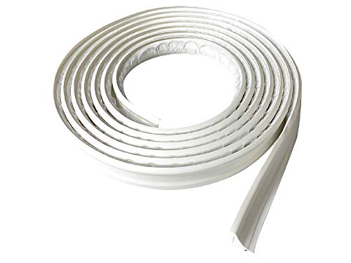 """Instatrim 3/4 Inch (Covers 3/8"""" Gap) Flexible, Self-Adhesive, Caulk and Trim Strips for Floors, Ceilings, Countertops and More (White, 10ft Long, 1 Pack)"""