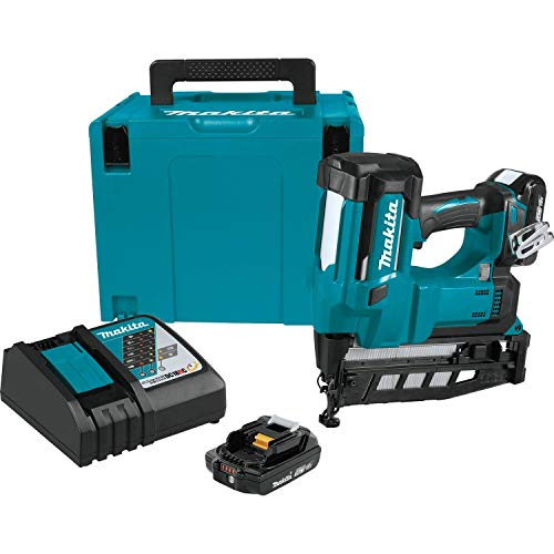 "Makita XNB02RJ 18V LXT 2-1/2"" Straight Finish Nailer Kit, 16 Ga"