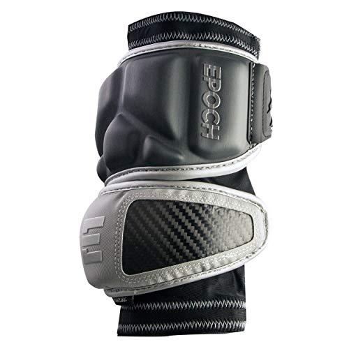 Epoch Integra Lacrosse Elbow Caps for Defensemen with Dual Density Foam, Large, Grey