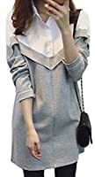 Heaven Days(ヘブンデイズ)ロングシャツ シャツ ロング丈 チュニック ワンピース レディース ボタン バイカラー 1710D0108