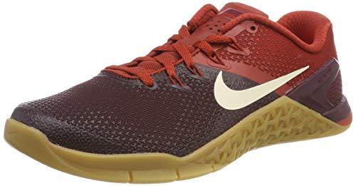 Nike Metcon 4, Zapatillas de Gimnasia para Hombre, Morado (Burgundy Crush Cream/Dune Red/Gum Lt Brown 626), 45.5 EU