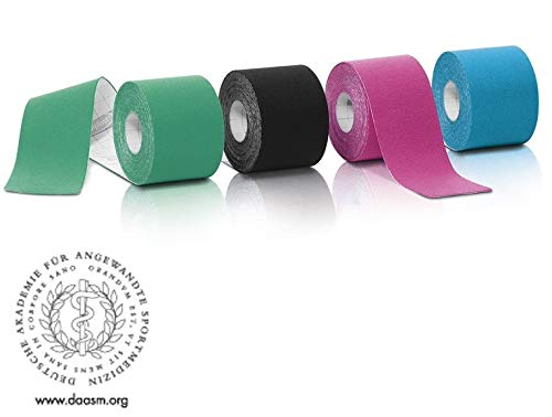 Kinesiologie Tape 5cm x 5m 4 FARBEN Tapes Klebeband Kinesiologie NEU