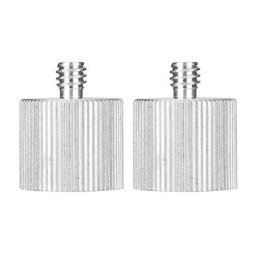 LANTRO JS - 2 uds, Aleación de aluminio Universal, 1/4 a 5/8, reductor de rosca de trípode, soporte de nivel de tornillo, accesorios adaptadores de tornillo