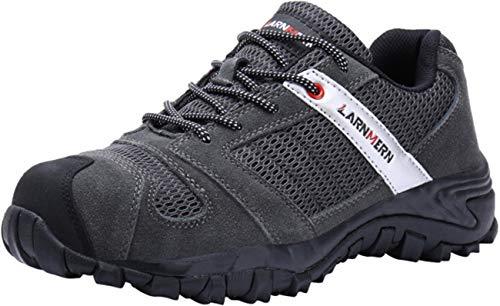 LARNMERN Work Shoes for Men, LM-18 Men's Steel Toe...