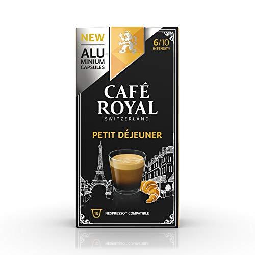 Café Royal Petit Déjeuner 100 Capsules en Aluminium Compatibles avec le Système Nespresso (R)*; Intensité: 6/10; (Lot de 10X10)