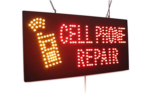 Cell Phone Repair Sign, TOPKING Signage, LED Neon Open, Store, Window, Shop, Business, Display, Grand Opening Gift