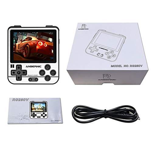 SUNI Handheld Spielekonsole, RG280V IPS 2,8 Retro-Spielekonsole Tragbare Mini-Handheld-Spielekonsole (64G 10000 Spiele) - Golden, Retro Tragbare Spielkonsole, für Kinder Erwachsene