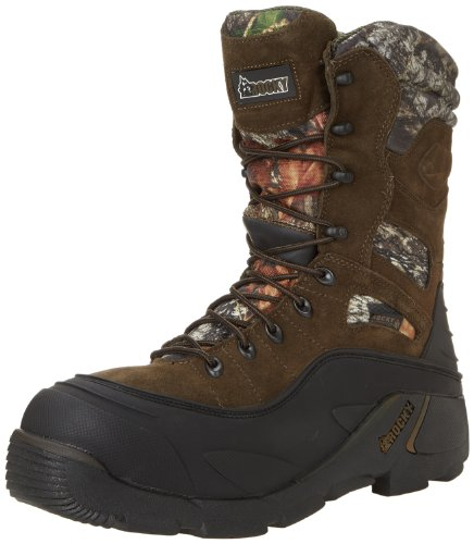 Rocky Men's Blizzard Stalker Pro Hunting Boot,Brown/Mossy Oak,9 M US