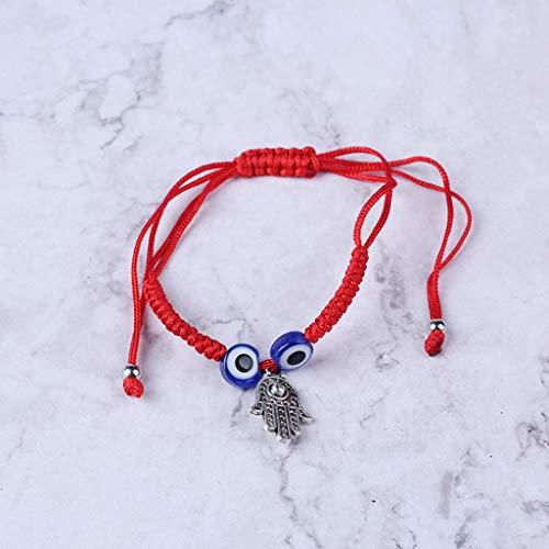 N/A/ Pulsera de cuerda roja de Kabbalah con protección contra el mal de ojo turco
