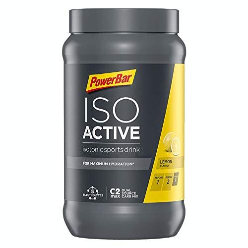 PowerBar Isoactive Lemon 1320g - Isotonisches Sportgetränk - 5 Elektrolyte + C2MAX