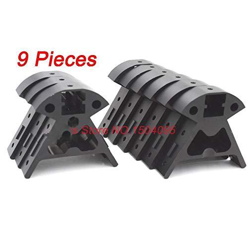 1 Set Of All Metal Mounting Frame For 3D Printer Rostock Kossel Mini K800 9 Pieces Black Aluminium Alloy Corner Fittings