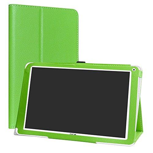 SPC Heaven Funda,LiuShan Folio Soporte PU Cuero con Funda Caso para 10.1' SPC Heaven Android Tablet,Verde