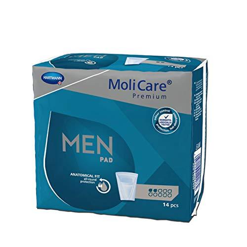 MoliCare Premium MEN PAD, Inkontinenz-Einlage für Männer bei Blasenschwäche, v-förmige Passform, 2 Tropfen, 1x14 Stück