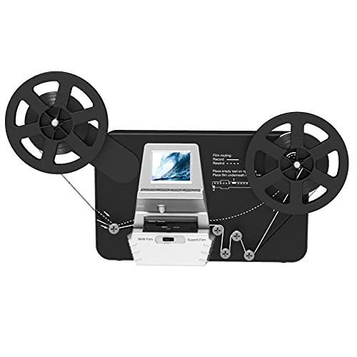 "8mm & Super 8 Reels to Digital MovieMaker Film Sanner Converter, Pro Film Digitizer Machine with 2.4"" LCD, Convert 5 inch and 8 inch 8mm Super 8 Film reels into 1080P Digital Videos"