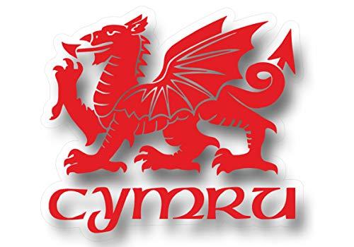 Cymru Draig Ddraig Goch Welsh Dragon Decal Caravan Motorhome Boat Car Sticker