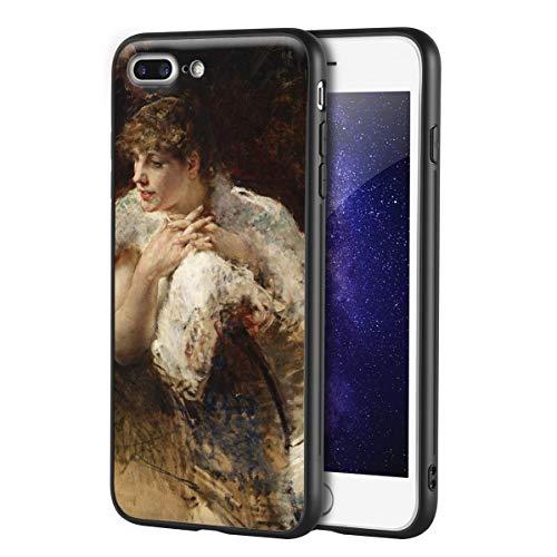 Berkin Arts Federico Zandomeneghi Custodia per iPhone 7 Plus&iPhone 8 Plus/Custodia per Cellulare Art/Stampa giclée UV sulla Cover del Telefono(Una Dama de Nápoles)