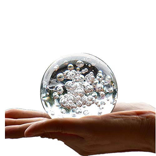 Crystal Glass Marbles Water Fountain Bubble Ball feng Shui Decorative Glass Balls Home Indoor Water Fountain Figurines (60mm)