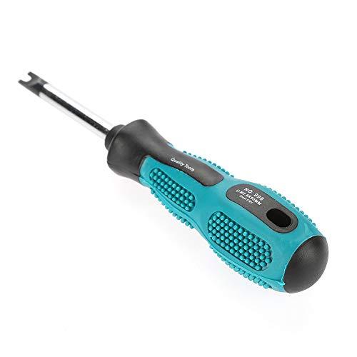 Juego de Destornilladores magnéticos para Herramientas manuales multifuncionales CRV Tipo Horquilla en U de 4 Piezas, con Principio ergonómico, excelente dureza y Rendimiento de dureza