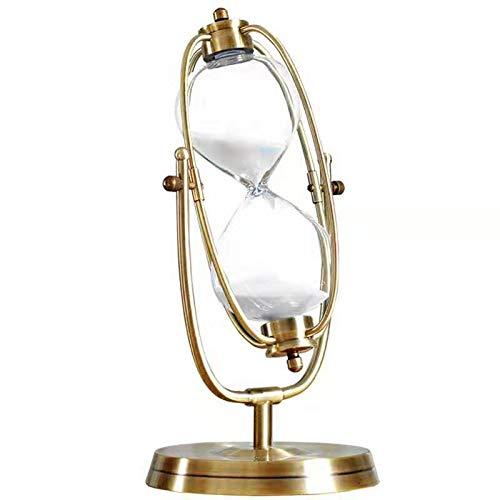 LPing Reloj de Arena de Cristal Vintage,Reloj de Arena Giratorio para decoración,Temporizador de Cocina o enseñanza,15/30/60 min