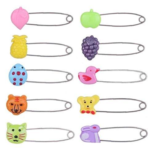 Case Cover 4pcs Plastic Head Sicherheitsnadeln, Baby-sicherheits-pins Windel-stifte Kunststoff Kopf Stoff Windel-windel-pins (Random Style)