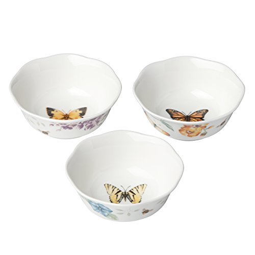 Lenox Butterfly Meadow 3-piece Prep Bowl Set, 1.2 LB
