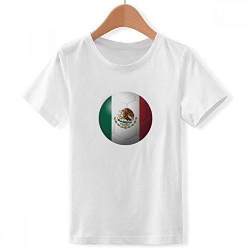 DIYthinker México Bandera Nacional de fútbol de fútbol con Cuello Redondo de...