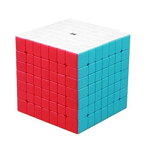 BestCube Qiyi 7x7 Cube Stickerless Qixing 7x7x7 Speed Cube Puzzle Gifts Toys(70mm)