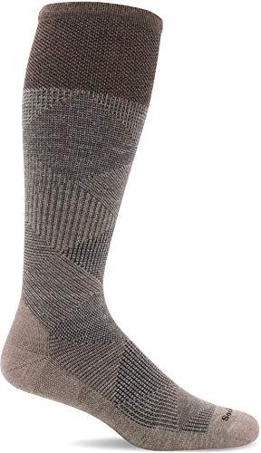 Sockwell Men's Diamond Dandy Moderate Graduated Compression Sock, Khaki - M/L